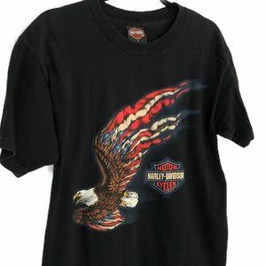 Men's Harley Davidson Patriotic Eagle Graphic Tee